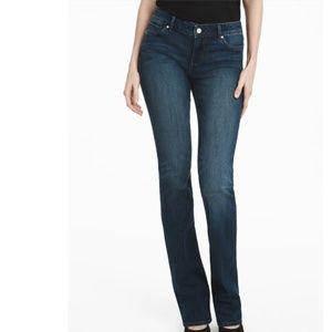 {WHBM}  slim boot cut jeans (8)